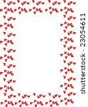 framework with hearts  for ... | Shutterstock . vector #23054611