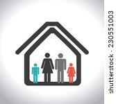 family design over gray... | Shutterstock .eps vector #230551003