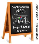 small business week sign  chalk ... | Shutterstock .eps vector #230552080