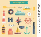 set of flat boating icons for... | Shutterstock .eps vector #230552500