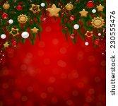 christmas card  | Shutterstock . vector #230555476