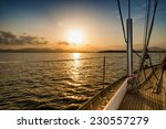sunset on the sea from the sail ... | Shutterstock . vector #230557279