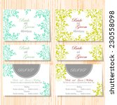 wedding invitation cards with... | Shutterstock .eps vector #230558098