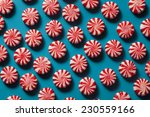 sweet red and white peppermint... | Shutterstock . vector #230559166