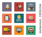 warehouse transportation and... | Shutterstock .eps vector #230561266