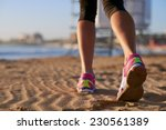 running on the beach shoe | Shutterstock . vector #230561389