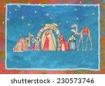 christmas nativity scene. jesus ... | Shutterstock . vector #230573746