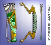game bow  arrow and quiver....