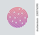 id app icon. fingerprint vector ... | Shutterstock .eps vector #230576590