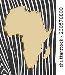 african poster with zebra... | Shutterstock .eps vector #230576800