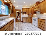spacious kitchen room interior...   Shutterstock . vector #230577376