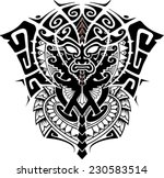 tribal god mask with alpha and... | Shutterstock .eps vector #230583514