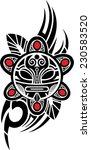 taino sun tribal vector... | Shutterstock .eps vector #230583520