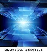 blue technology background... | Shutterstock . vector #230588308