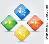 get 50 percent colorful vector...   Shutterstock .eps vector #230590486