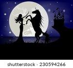 Silhouette Of Beautiful Girl...