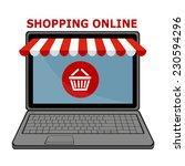shopping online  | Shutterstock .eps vector #230594296