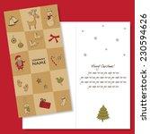 christmas card design template   Shutterstock .eps vector #230594626