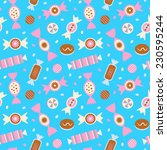 candies seamless pattern. | Shutterstock .eps vector #230595244