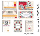 set of loyalty cards. beautiful ... | Shutterstock .eps vector #230596426