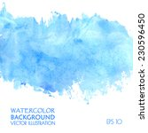 light water blue watercolor... | Shutterstock .eps vector #230596450