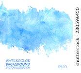 Light Water Blue Watercolor...