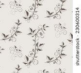 vector retro floral background... | Shutterstock .eps vector #230600314