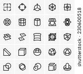 3d modelling icons | Shutterstock .eps vector #230600518