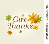 beautiful thanksgiving day... | Shutterstock .eps vector #230600788