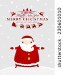 santa claus with merry...   Shutterstock .eps vector #230601010