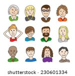collection of funny cartoon... | Shutterstock .eps vector #230601334