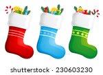 christmas stockings | Shutterstock .eps vector #230603230