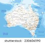 high detailed australia road... | Shutterstock .eps vector #230606590