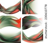 green and red waves isolated... | Shutterstock .eps vector #230610778