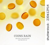Shiny Coins Rain Background....
