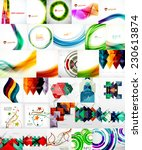 set of vector abstract... | Shutterstock .eps vector #230613874