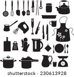 kitchen tool collection | Shutterstock .eps vector #230613928