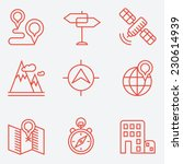 location icons  thin line style ... | Shutterstock .eps vector #230614939