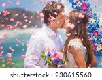 wedding couple just married... | Shutterstock . vector #230615560