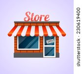 shop icon. store | Shutterstock .eps vector #230619400