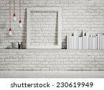 Mock Up White Frame On White...