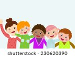 group of kids | Shutterstock .eps vector #230620390