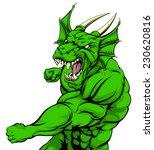 a tough looking green dragon... | Shutterstock .eps vector #230620816