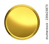 gold coin illustration isolated ...   Shutterstock . vector #230623873