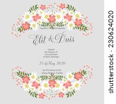 wedding invitation or card with ... | Shutterstock .eps vector #230624020