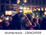supporters recording at concert ... | Shutterstock . vector #230624509