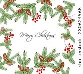 merry christmas and happy new... | Shutterstock .eps vector #230624968