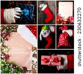 christmas collage | Shutterstock . vector #230632270