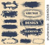 set of grunge design elements.... | Shutterstock .eps vector #230640658