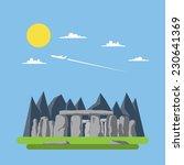 Flat Design Of Stonehenge...